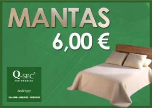 Limpieza de mantas a 6,00€